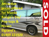 Mazda Bongo/ Friendee Wanted Free Top Camper Day Van etc