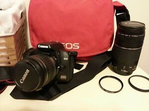 Canon EOS 1000D DSLR loaded with extras ! plus lenses