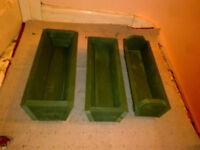 3 x Garden Wood Planters