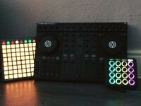Traktor S4 - Novation Launchpad - Midi fighter 3D with Trolley bag