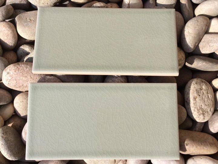 Brand New Boxed Fired Earth Retro Metro Gloucester Road Green Tiles Kitchen Fireplace Hearth