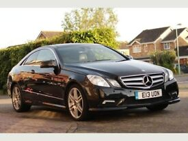MERCEDES BENZ E250 COUPE DIESEL BLACK PANORAMIC ROOF