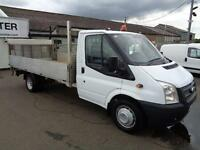 Ford Transit T350 MWB S/C DROPSIDE 100PS DIESEL MANUAL WHITE (2013)