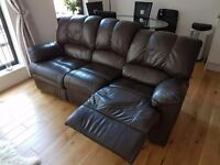 Leather Recliner Sofa for sale, Hemel Hempstead, collection only. £50