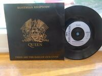 Queen Bohemian Rhapsody 7inch Record. 1991. Excellent Condition.