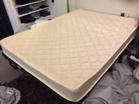 SLEEP EASY memory foam spring double mattress - HARDLY USED