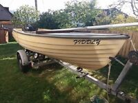 Boat by Bonwitco - Fibreglass Double Skin - Trailer Sail Mast and Engine Motor