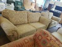 Patterned fabric 3 seater sofa + seater sofa