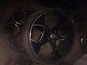 2 20inch wheels need tyres Albury Albury Area Preview