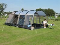 Kampa Croyde 4 Family Tent - Hardly used - with footprint and carpet