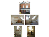 Double bedroom with en-suite shower room and separate study in central location