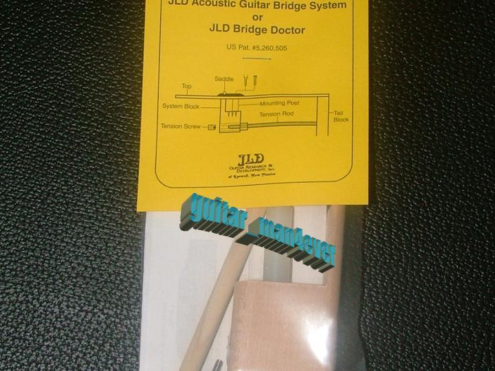 JLD Bridge Doctor System for Bowed/Bellied/Warped Guitar Top, Bridge Screw Mount
