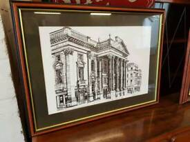 Theatre royal and st Nicholas cathedral framed pictures