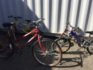 Free bikes for parts