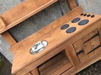 """Hand made wooden """"mud"""" kitchen"""