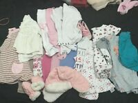 Baby Girl Bundle of Clothes Aged 0-2 years Excellent Condition