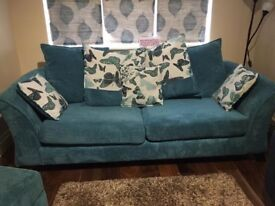 Three Seater Sofa with Footstool