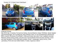 Hundai i10 1.2 style 5 door Hatchback