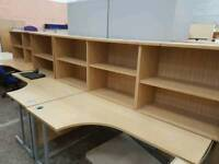 Desk height bookcases