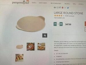 Pampered Chef Pizza stone