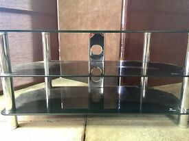 Black Gloss Glass TV Stand Cabinet