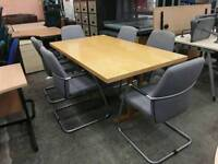 Boardroom table and X 6 chairs. Del available