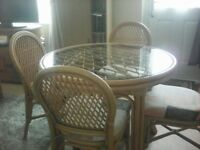 Wicker conservatory set,