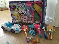 My little pony bundle - stage, dolls, car
