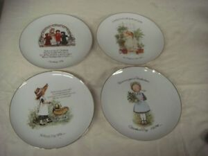 Holly Hobbie Collector Plates (4)