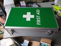 Kitted Lockable First Aid Box (Sports Centre, Gym, Rugby, Football, Scouts, Cadets, Warehouse...)