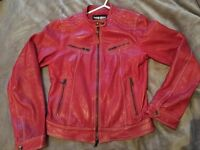 Real leather aviation jacket