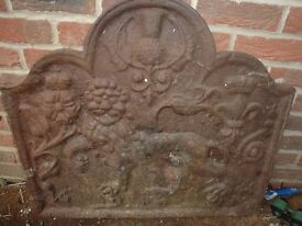 Cast Iron Fire Back Plate