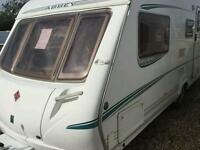 Abbey vouge gts 418 fixed bed with motor mover touring caravan