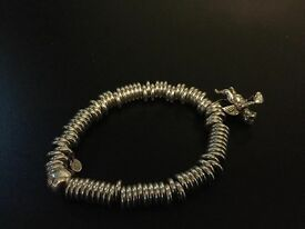 AUTHENTIC LINKS OF LONDON SWEETIE BRACELET & ADDITIONAL CHARM. STERLING SILVER