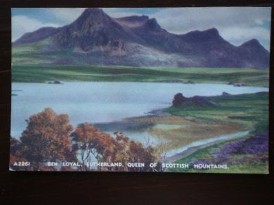 POSTCARD SUTHERLAND SUTHERLAND - BEN LOYAL - QUEEN OF SCOTTISH MOUNTAINS