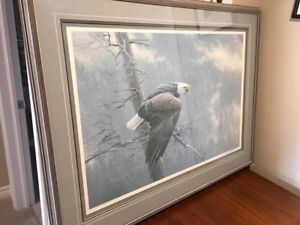 Robert Bateman Framed Print, The Air The Forest & The Watch