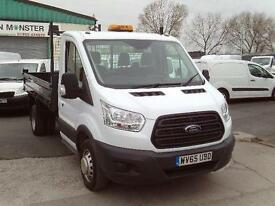 Ford Transit T350 S/Cab Tipper 100ps New Shape DIESEL MANUAL WHITE (2015)