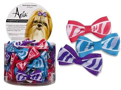 - Dog Puppy Grooming Bow - Aria - Canister of 48 bows - Portia - 2
