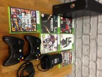 X box 360 plus controllers & games
