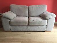 Harvey's 2 Seater Sofa & Stool Grey