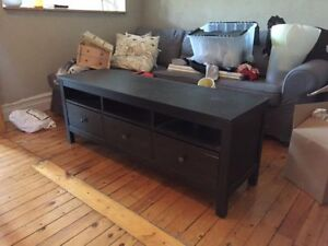 Meuble télé IKEA Hemnes brun-noir