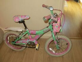 Raleigh 16inch girls Miss Kool bike with stabilisers