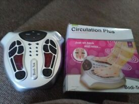 Circulation plus booster is for stimulating legs and feet