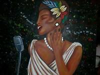 Singing the blues painting