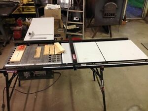 """Makita 8"""" contractor saw w/ Rousseau table extension"""