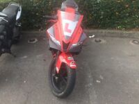 Yamaha YZF R125 2009 with new nose cone, scorpion exhaust + more