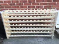 Wine Rack. Wooden Holds 91 Bottles BRAND NEW
