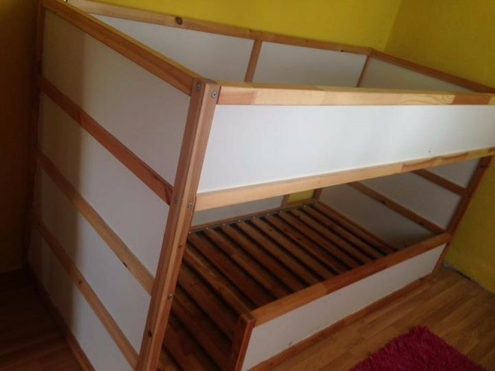 ikea kura bed hack low bunk beds and trofast steps with boxes in blackley manchester gumtree. Black Bedroom Furniture Sets. Home Design Ideas