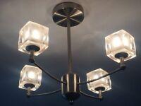 x2 glass Icecube ceiling lights