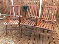 Teal recliner garden chairs